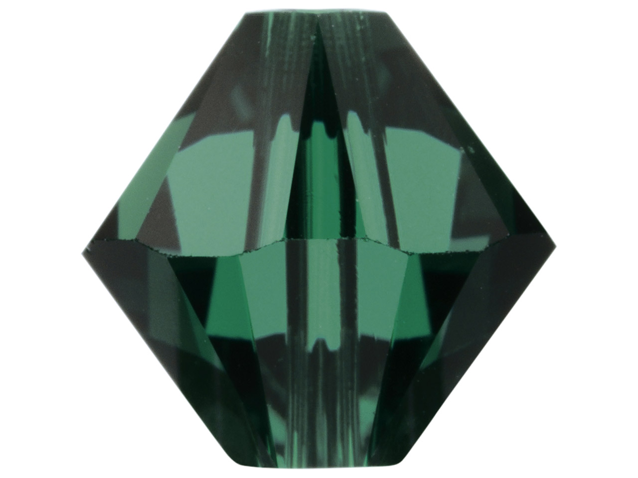 Swarovski Crystal Pack of 6 Bicone, 5328, 8mm, Emerald