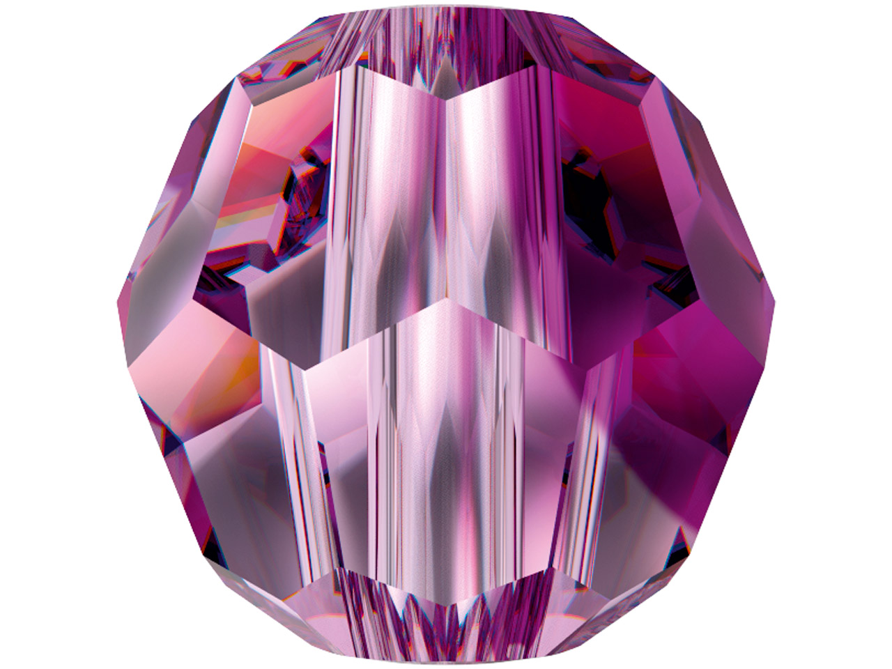 Swarovski Crystal Pack of 12,      Round, 5000, 4mm Amethyst