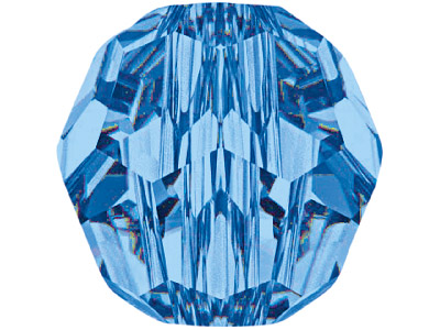 Swarovski Crystal Pack of 12,      Round, 5000, 4mm Capri Blue