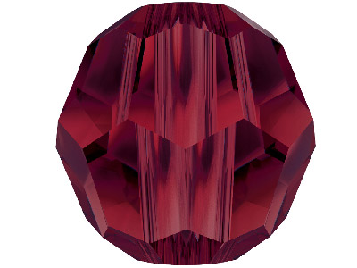 Swarovski Crystal Pack Of 12 Round 5000 4mm Garnet