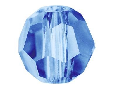 Swarovski Crystal Pack Of 12 Round, 5000, 4mm Denim Blue