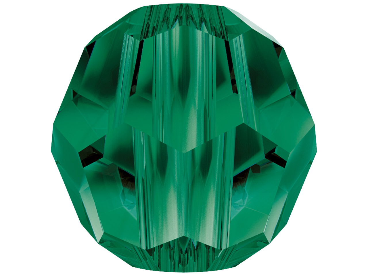 Swarovski Crystal Pack of 12,      Round, 5000, 4mm, Emerald