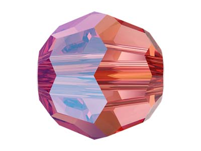 Swarovski Pack of 12, Round, 5000, 4mm, Rose Peach Shimmer