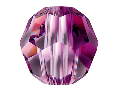 Swarovski Crystal Pack of 12,      Round, 5000, 6mm Amethyst