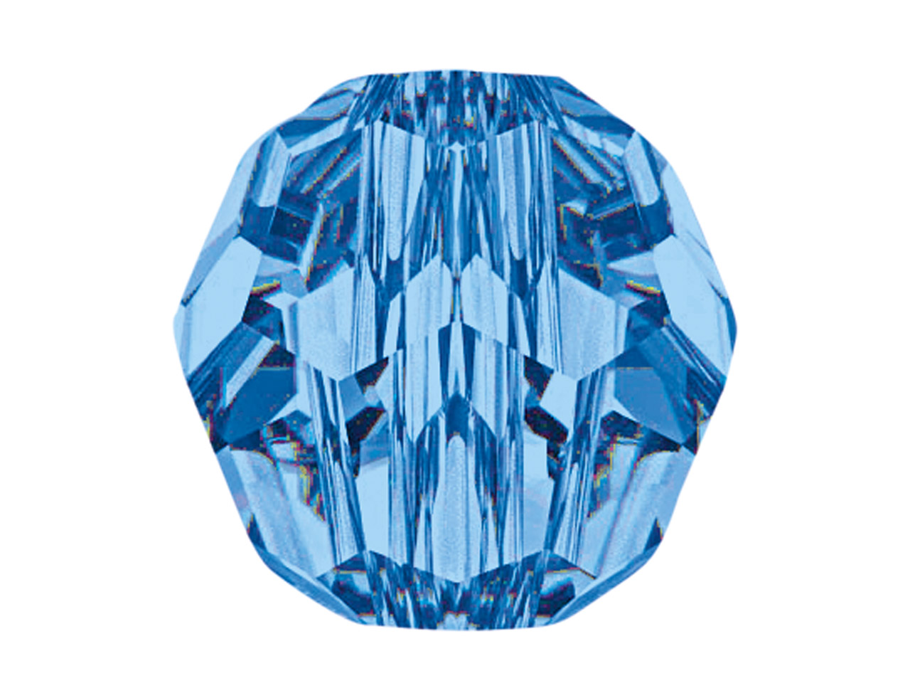 Swarovski Crystal Pack of 12,      Round, 5000, 6mm Capri Blue