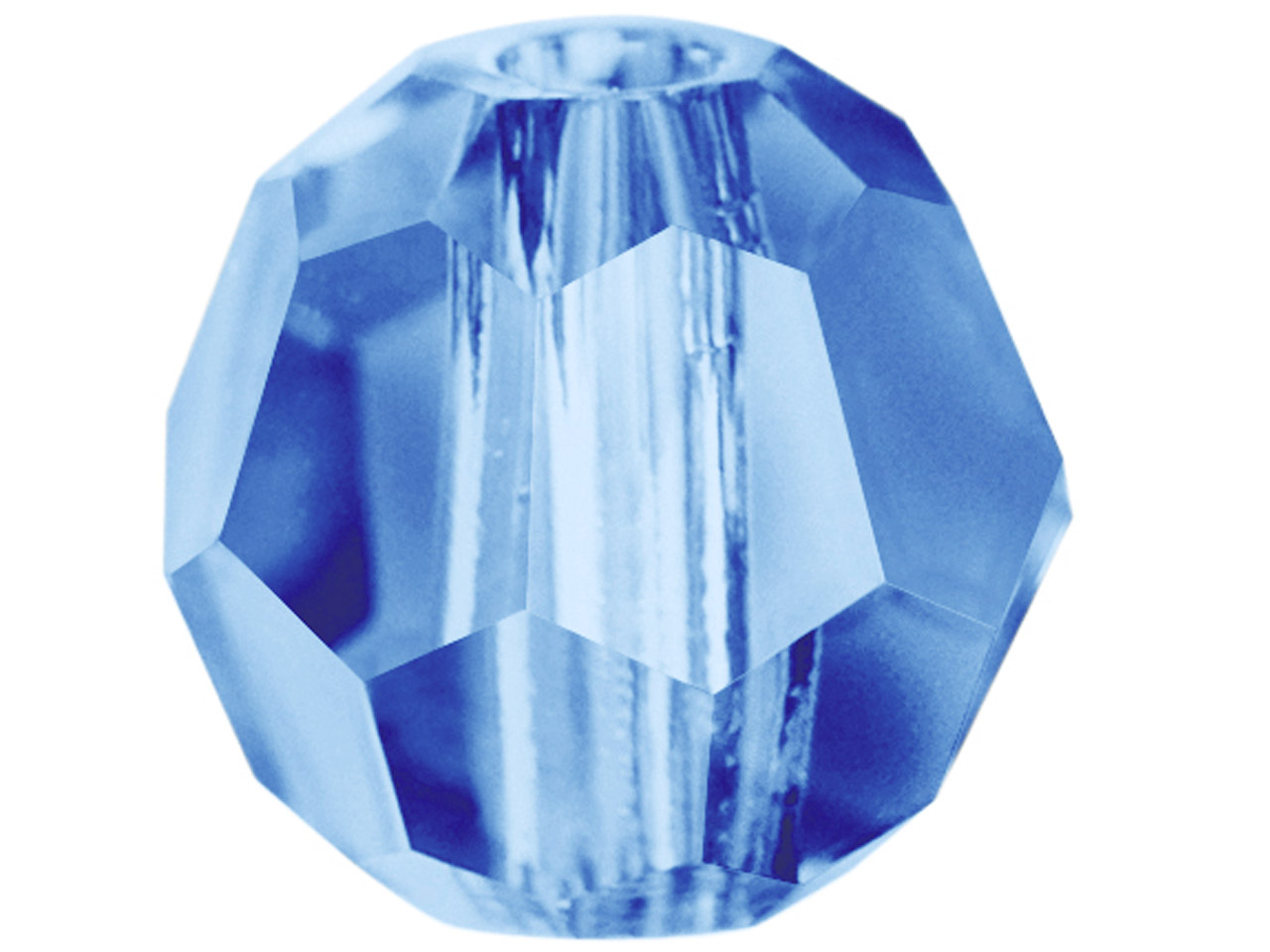Swarovski Crystal Pack of 12,      Round, 5000, 6mm Denim Blue