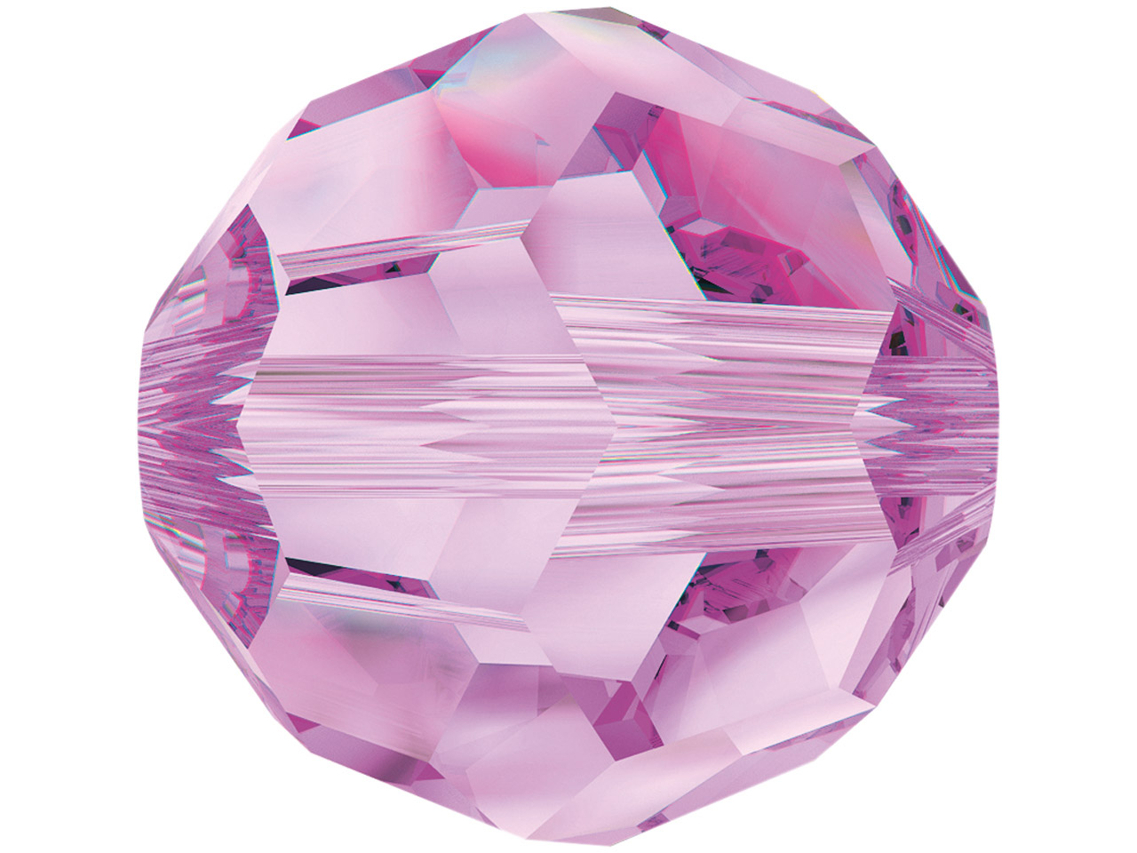 Swarovski Crystal Pack of 12,      Round, 5000, 6mm, Rose