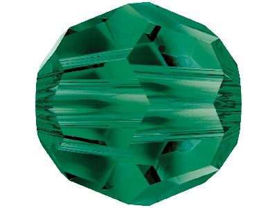 Swarovski Crystal Pack of 12,      Round, 5000, 6mm, Emerald