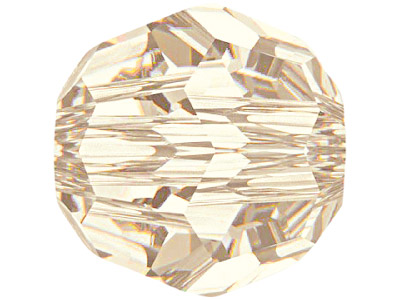 Swarovski Crystal Pack of 12,      Round, 5000, 6mm, Light Silk