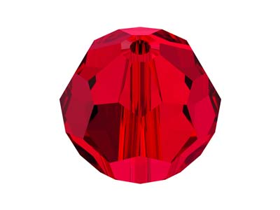 Swarovski Pack of 12, Round, 5000, 6mm, Scarlet