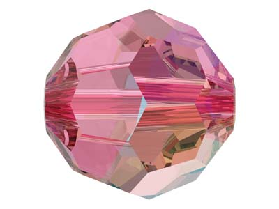 Swarovski Pack of 12, Round, 5000, 6mm, Rose Shimmer