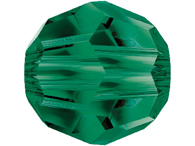 Swarovski Crystal Pack of 6 Round, 5000, 8mm, Emerald