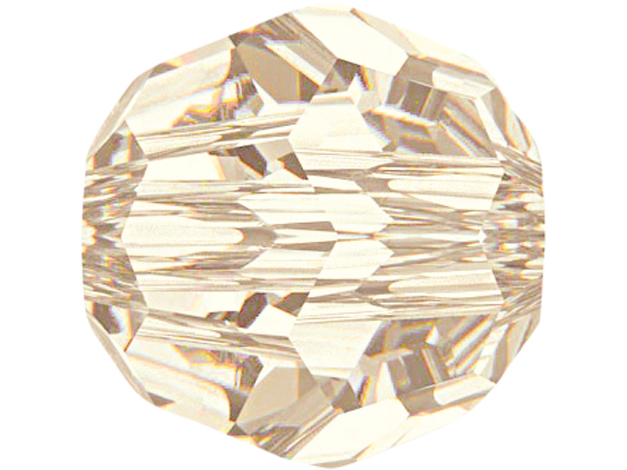 Swarovski Crystal Pack of 6 Round, 5000, 8mm, Light Silk