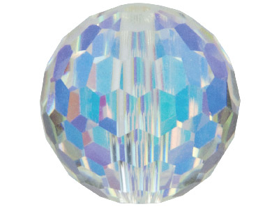 Swarovski Crystal Pack Of 12 Round Briolette Cut Beads, 5003, 6mm