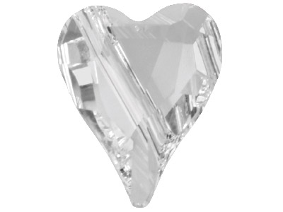 Swarovski Crystal Pack of 2 Wild   Heart Beads 5743 12mm Crystal