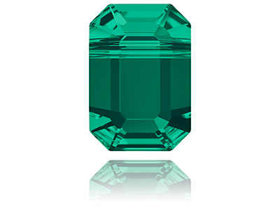 Swarovski Pack of 4 Pendulum Bead, 5514, 8x5.5mm, Emerald