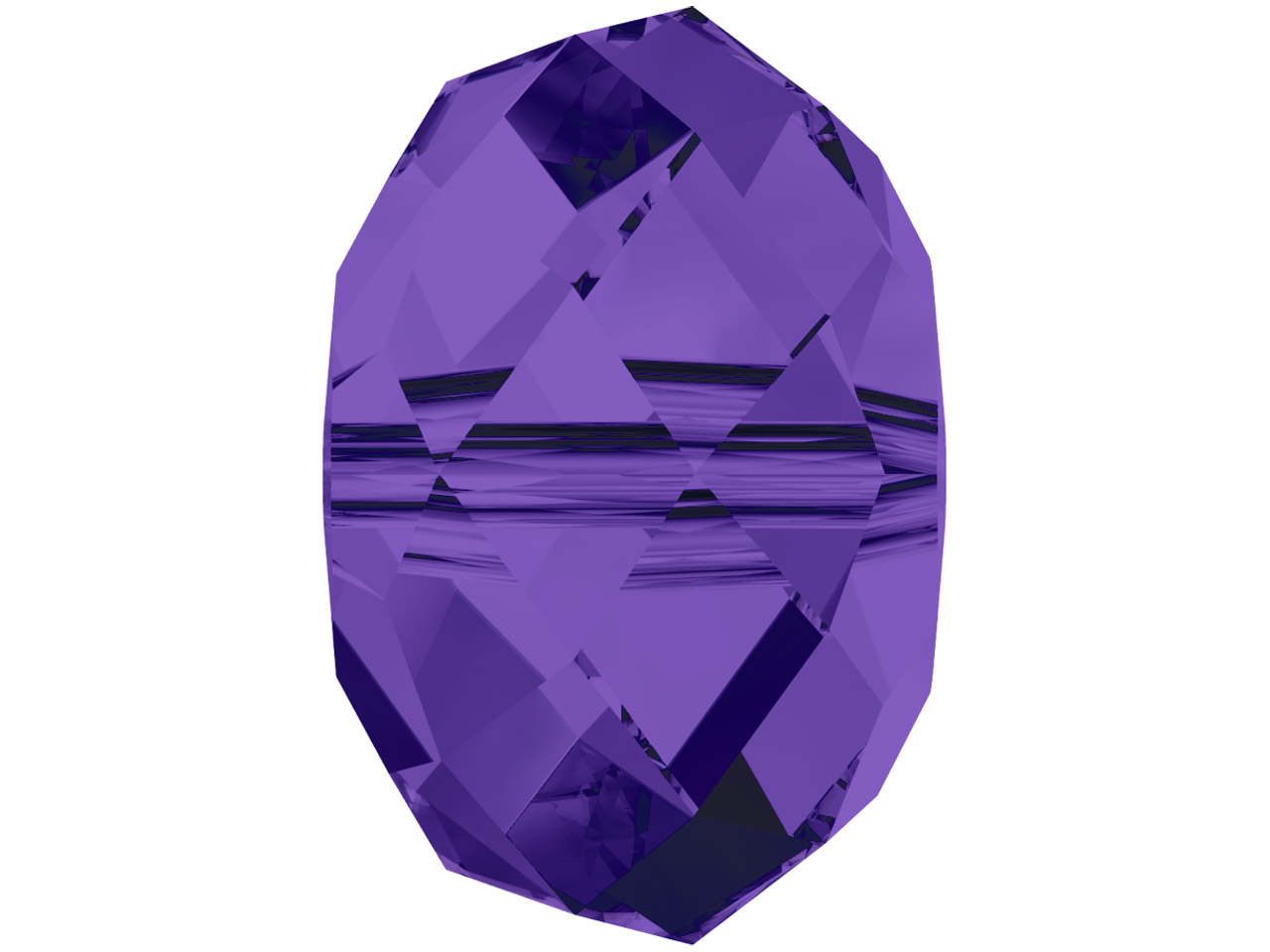 Swarovski Crystal Pack of 12,      Briolette Bead, 5040, 6mm, Purple  Velvet