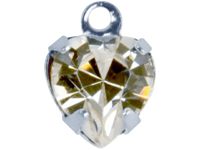 Swarovski Crystal Heart Charm, 12204, 9mm Crystal Clear