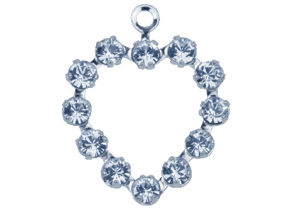 Swarovski Crystal Heart Charm 37212 12x15mm Multi-stone Crystal
