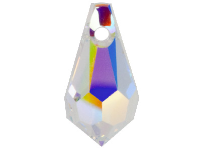 Swarovski Crystal Pack of 4 Drops 6000 11x5.5mm Crystal Ab