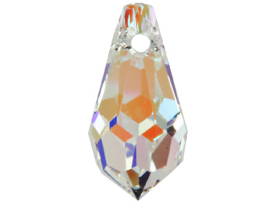 Swarovski Crystal Pack of 4 Drops, 6000, 13x6.5mm Crystal Ab
