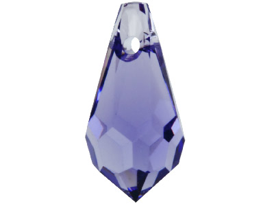 Swarovski Crystal Pack of 4 Drops, 6000, 13x6mm Tanzanite