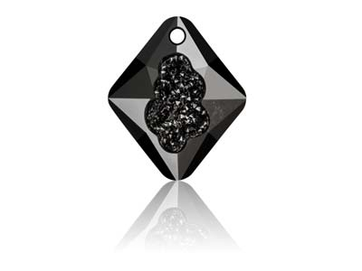 Swarovski Growing Crystal, Pendant, Rhombus, 6926, 26mm, Jet