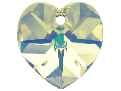 Swarovski Crystal Pack of 2 Heart, 6228, 10mm Crystal Ab