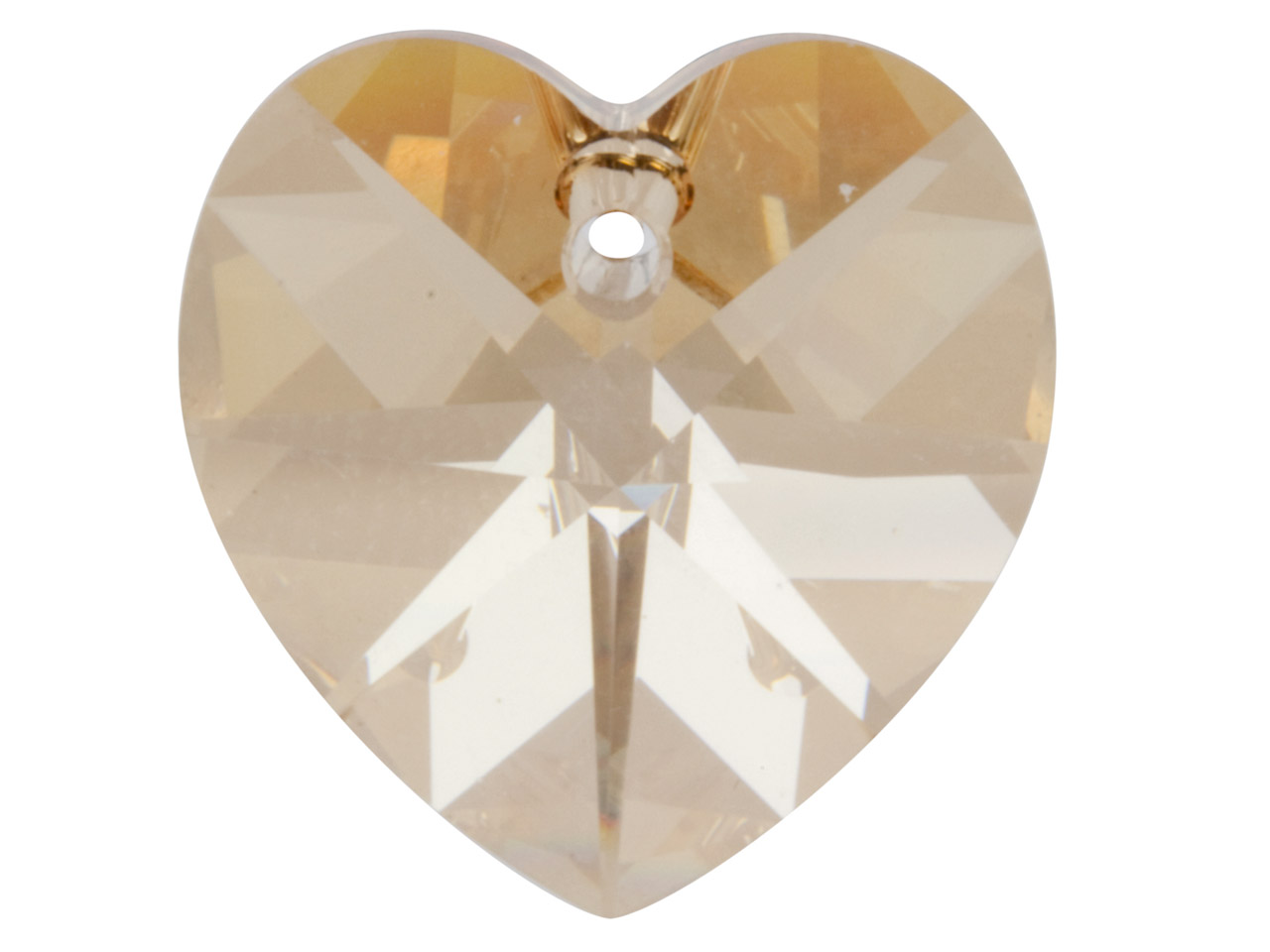 Swarovski Crystal Pack of 2 Heart, 6228, 10mm Crystal Golden Shadow