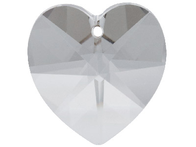 Swarovski Crystal Pack of 2 Heart 6228 10mm Silver Shade
