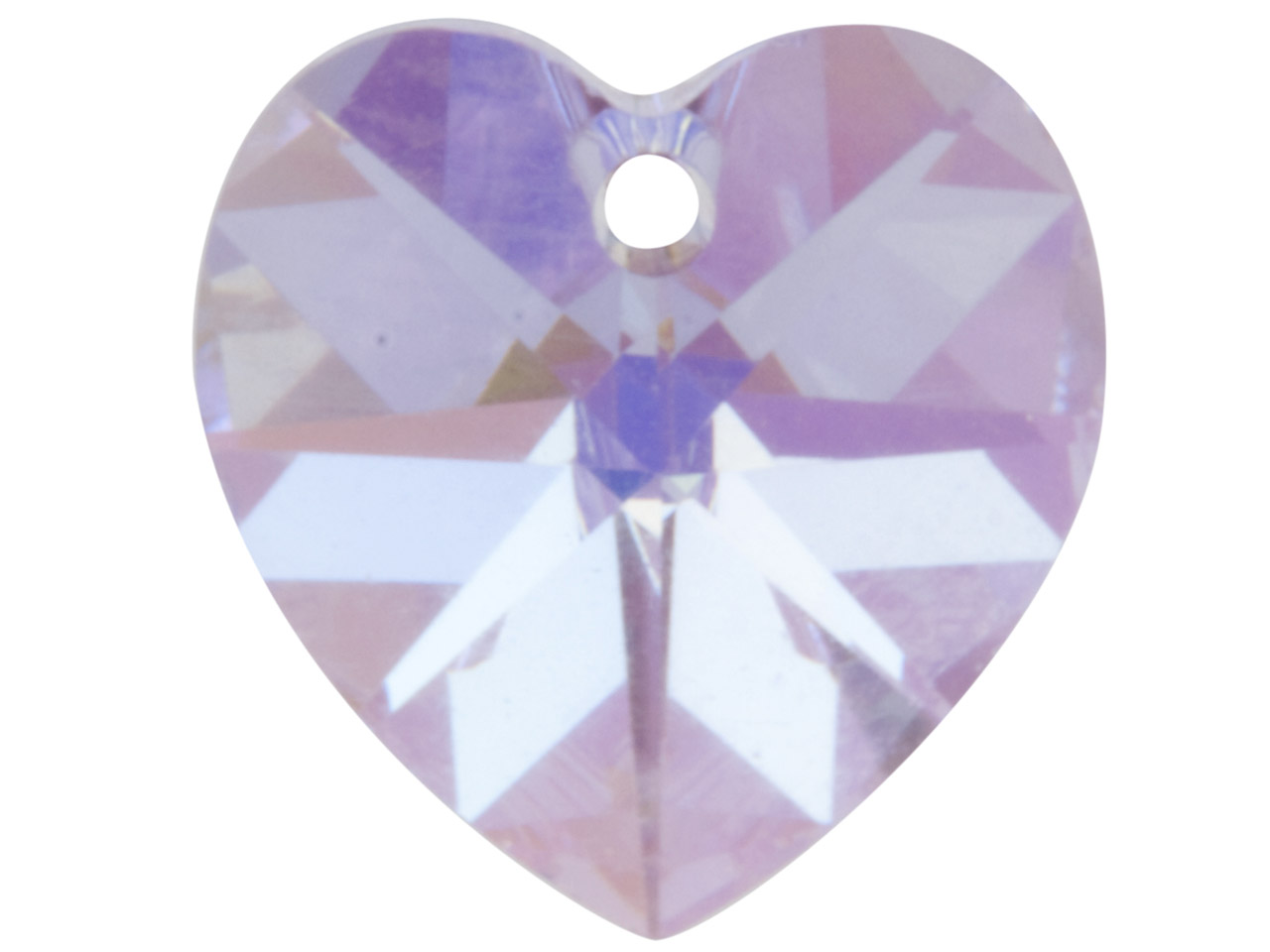 Swarovski Crystal Pack of 2 Heart, 6228, 10mm Violet Ab