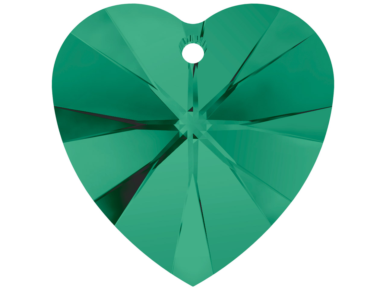 Swarovski Crystal Pack of 2 Heart, 6228, 10.3x10mm Emerald