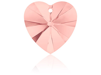 Swarovski Crystal Pack of 2 Heart 6228 10.3x10mm Blush Rose