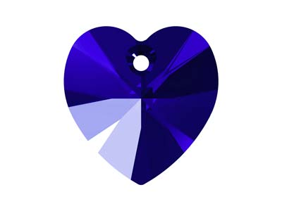 Swarovski Pack of 2 Heart, 6228,   10.3mm X 10mm, Majestic Blue