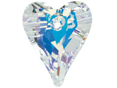 Swarovski Crystal Pack of 2 Wild Hearts, 6240, 12mm Crystal Ab