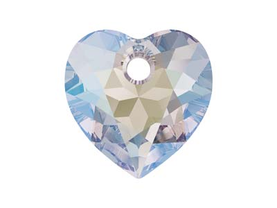 Swarovski Pack of 2 Heart Cut      Pendant, 6432, 10.5mm Crystal      Shimmer