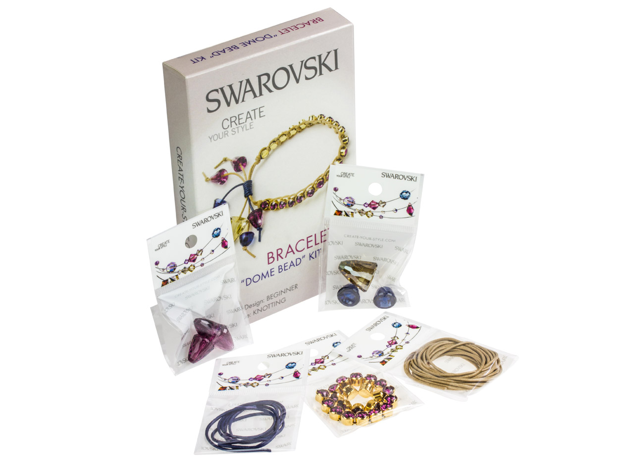 Swarovski Crystal Dome Bead        Bracelet Kit
