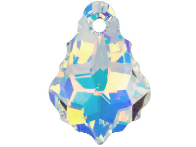 Swarovski Crystal Baroque Drop     Pendant, 6090, 16x11mm Crystal Ab