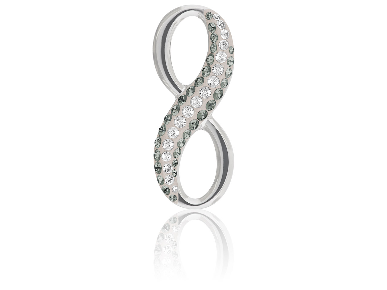 Swarovski Crystal Pave Infinity    Pendant, 20mm, Black Diamond