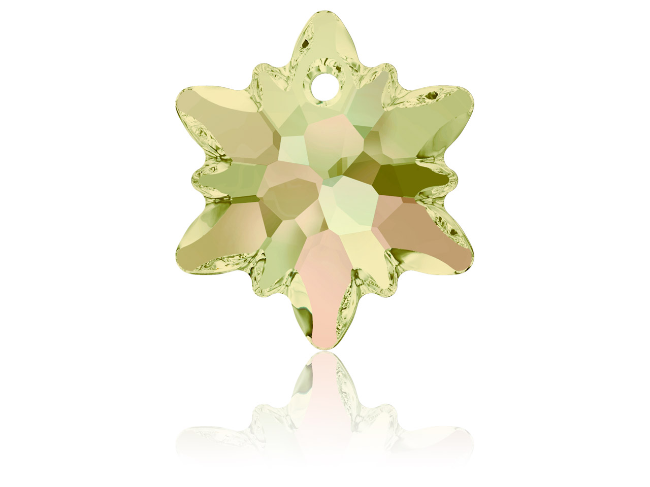 Swarovski Edelweiss Pendant, 14mm, Crystal Luminous Green
