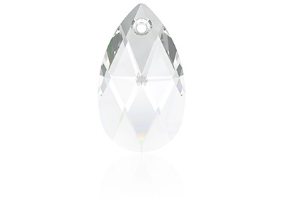 Swarovski Pack of 2 Pear Shaped    Pendant, 6106, 16mm, Crystal