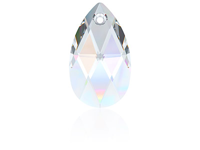 Swarovski Pack of 2 Pear Shaped    Pendant, 6106, 16mm, Crystal Ab