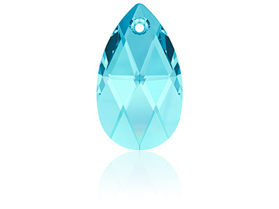 Swarovski Pack of 2 Pear Shaped    Pendant, 6106, 16mm, Aquamarine
