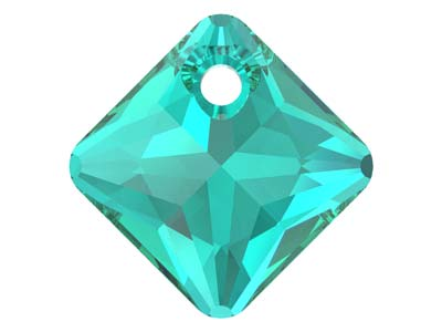 Swarovski Pack of 2 Princess Cut   Pendant, 6431, 11.5mm Emerald