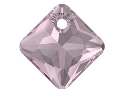 Swarovski Pack of 2 Princess Cut   Pendant, 6431, 11.5mm Light        Amethyst