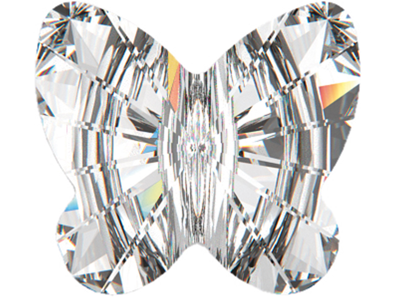 Swarovski Crystal Pack of 6         Butterfly Shapes, 5754, 8mm Crystal Ab