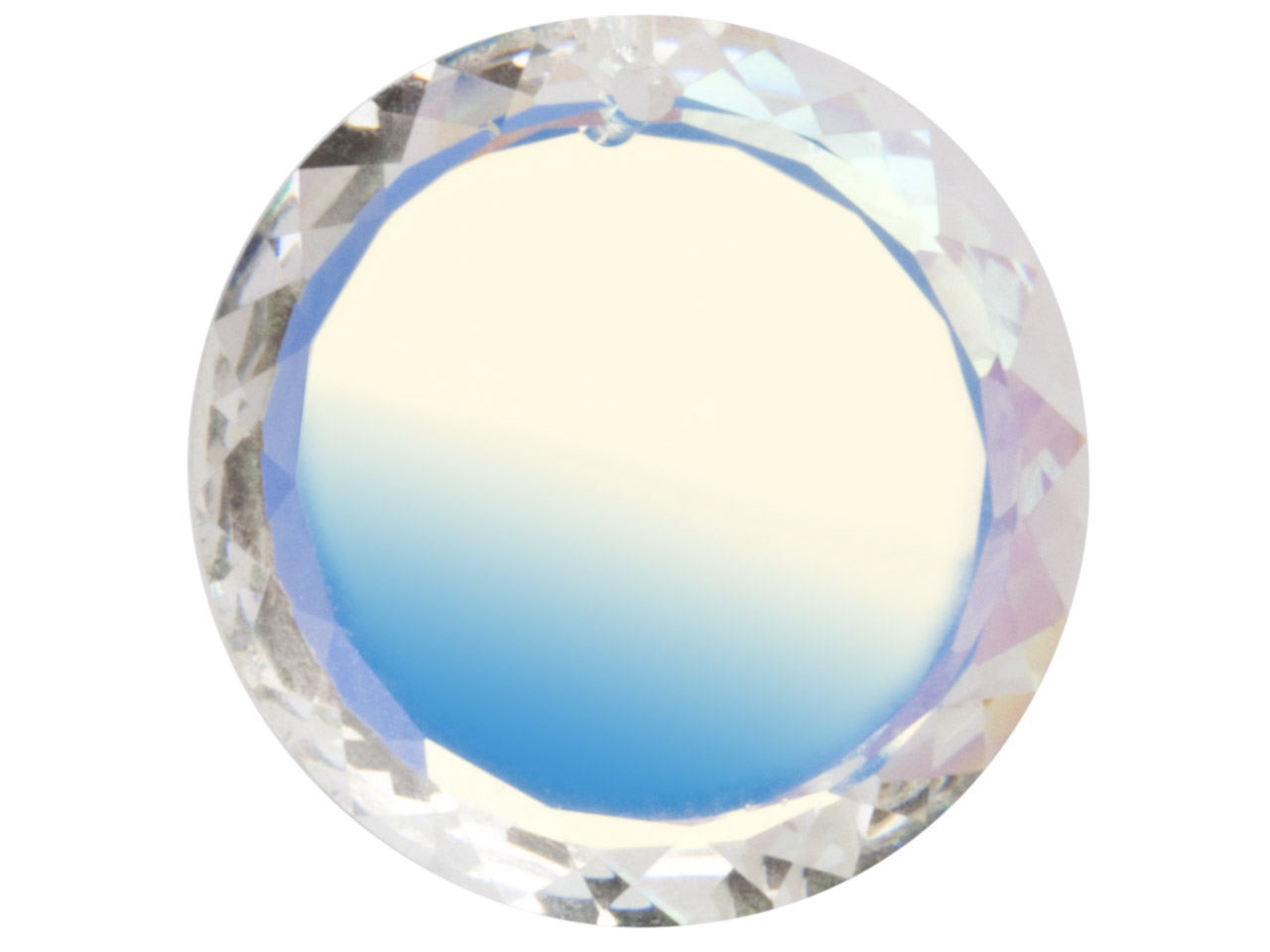 Swarovski Crystal Pack of 2 Disc   With Plain Centre, 6049, 20mm