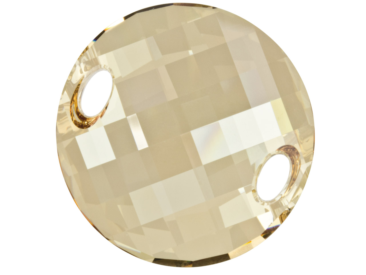 Swarovski Crystal Twisted Sew-on   Bead, 3221, 28mm Crystal Golden    Shadow