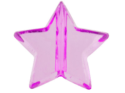 Purple Star 13x15mm Lucite Beads  Pack Of 30