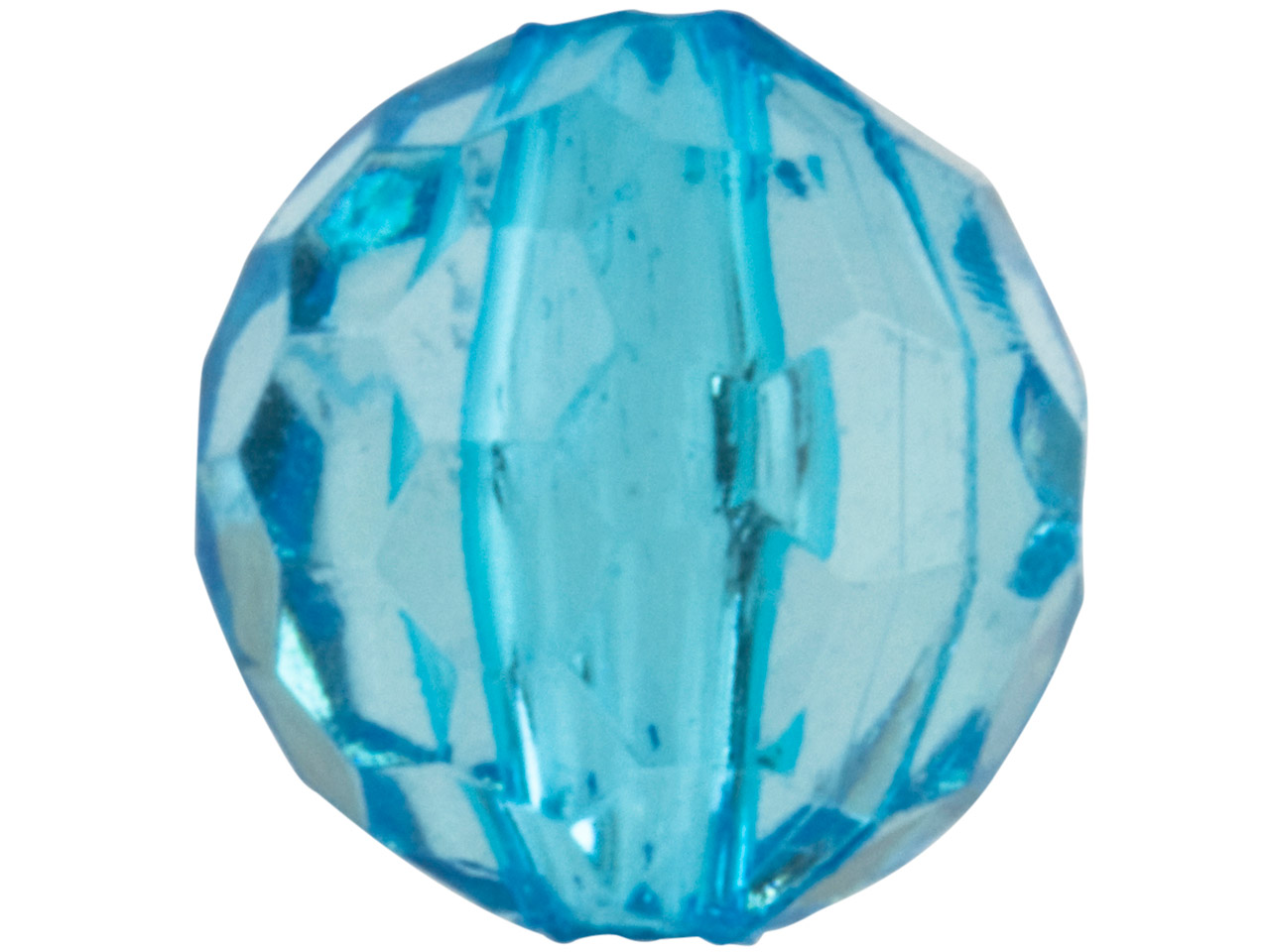 Aqua Blue Faceted Round 8mm Lucite Beads Pack of 100,